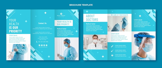 フラットデザインの医療パンフレット