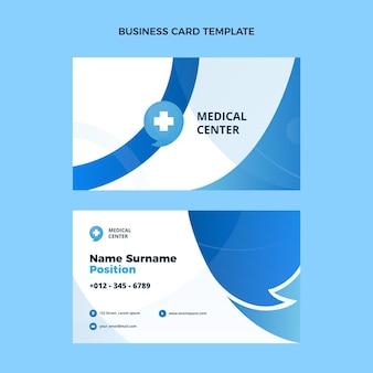 Flat design ofmedical business card horizontal