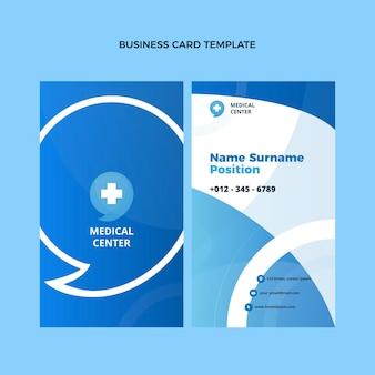 Flat design ofmedical business card vertical