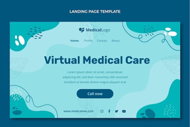 フラットデザイン医療ランディングページ