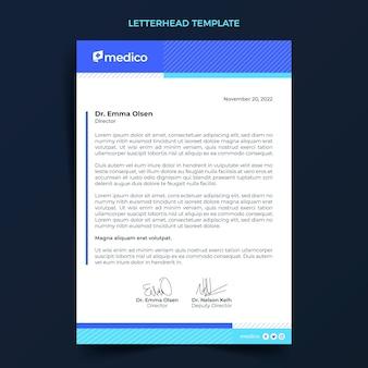 Carta intestata per cure mediche dal design piatto