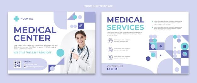 Flat design medical center brochure