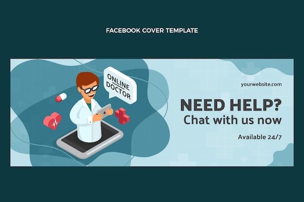 Modello di copertina facebook medico design piatto