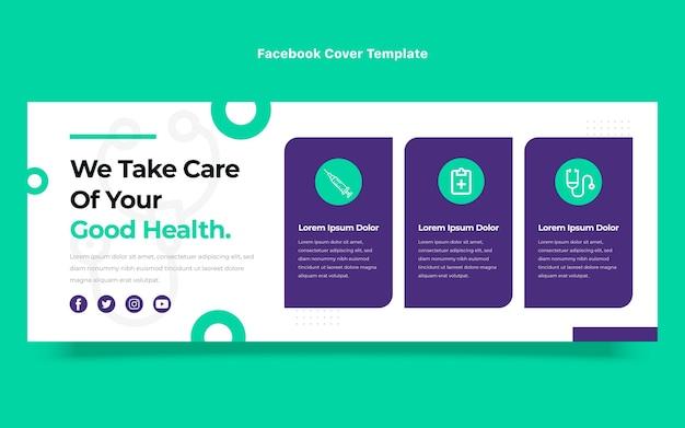 Design piatto della copertina di facebook medica