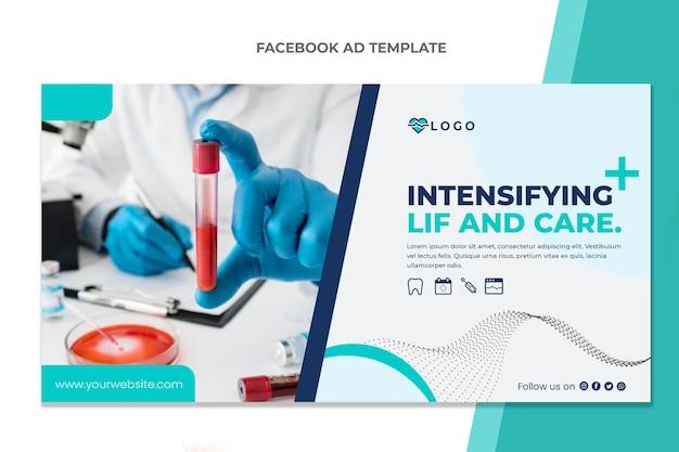 Flat design medical facebook template