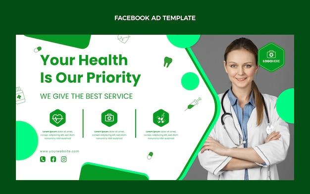 Плоский дизайн медицинского шаблона facebook