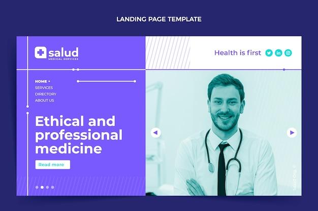 Flat design medical landing page