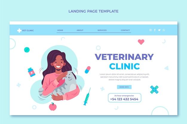 Pagina di destinazione medica dal design piatto