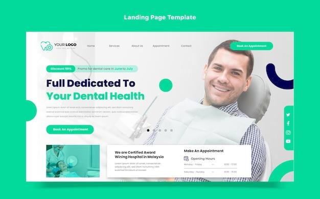 Design piatto della pagina di destinazione medica