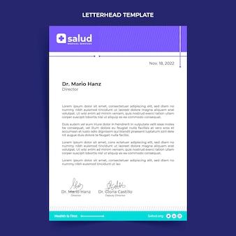 평면 디자인 의료 편지지