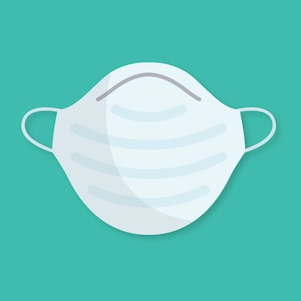 Flat design medical mask