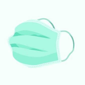 Flat design medical mask