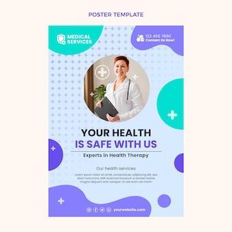 Flat design medical poster design