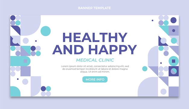 Banner di vendita medica design piatto