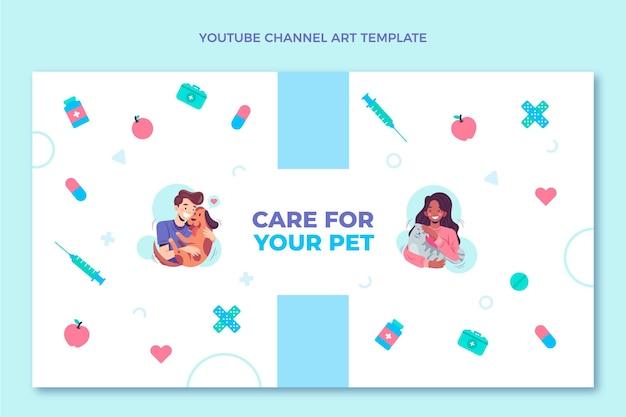 Canale youtube medico dal design piatto