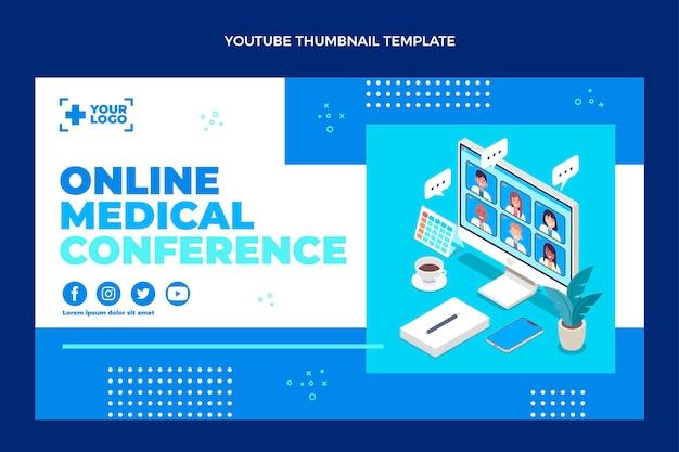 Плоский дизайн медицинской миниатюры youtube