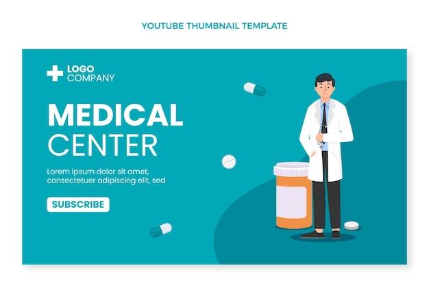 Miniatura di youtube medica dal design piatto