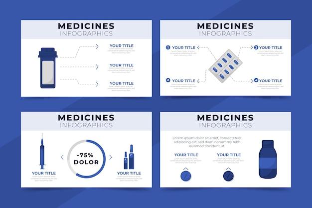 평면 디자인 의약품 인포 그래픽