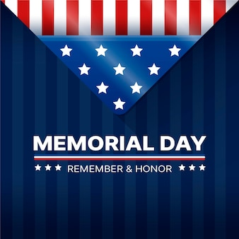 Concetto di memorial day design piatto
