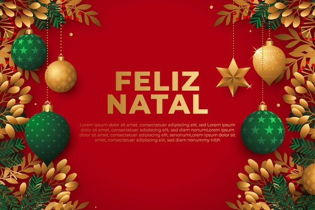 Flat design merry christmas background
