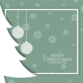Flat design merry christmas stylish modern background