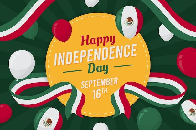 Плоский дизайн мексиканский день независимости концепция