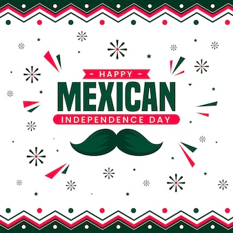 Flat design mexic independence day concept