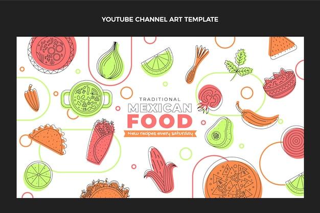 Канал youtube в плоском дизайне