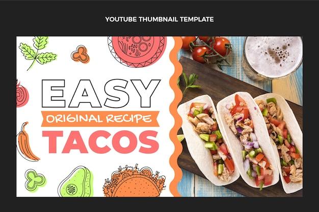 Плоский дизайн мексиканской еды на youtube