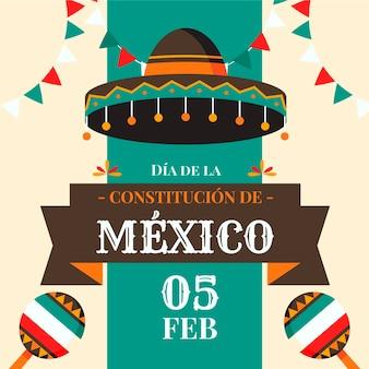 평면 디자인 멕시코 헌법의 날