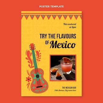 Poster di bevande messicane design piatto