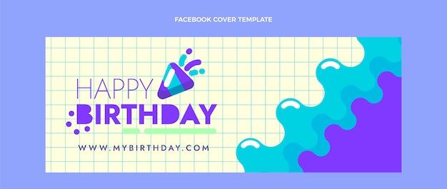 평면 디자인 최소한의 생일 페이스 북 커버
