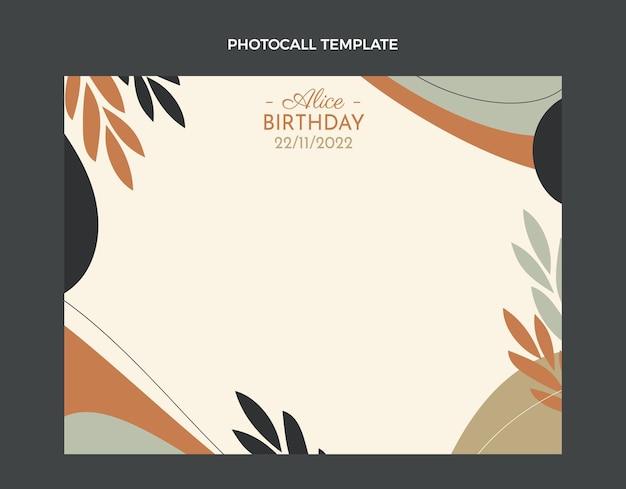 평면 디자인 최소한의 생일 photocall