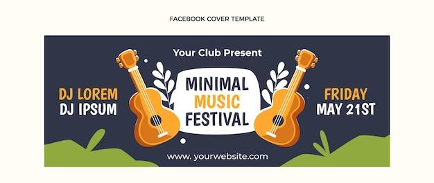 평면 디자인 최소한의 음악 축제 페이스 북 커버