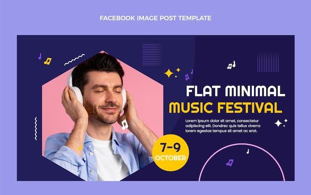 Post di facebook del festival di musica minimale dal design piatto
