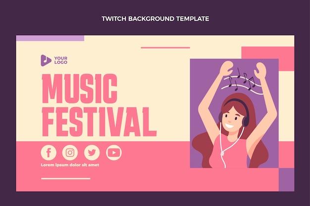 Fondo minimo di contrazione del festival di musica di design piatto