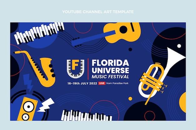Canale youtube del festival di musica minimale dal design piatto