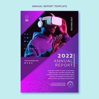 평면 디자인 최소한의 기술 연례 보고서
