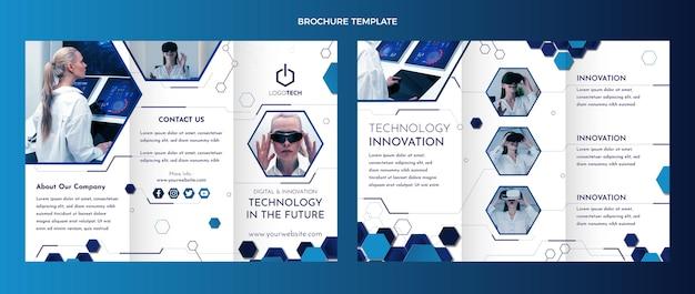 Brochure con tecnologia minimale dal design piatto