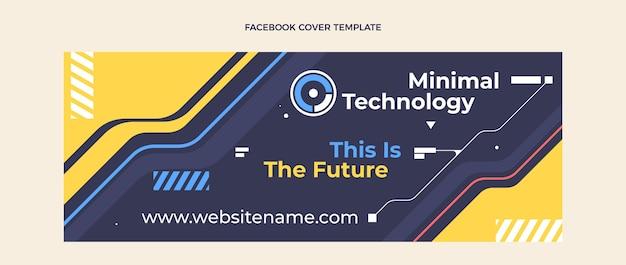 Плоский дизайн минималистичной технологии обложки facebook