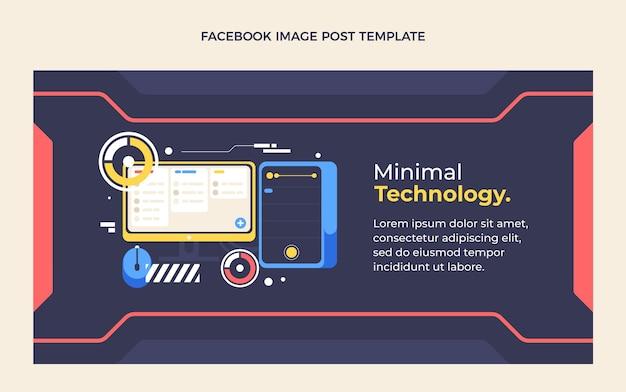 Плоский дизайн минималистичный пост в фейсбуке