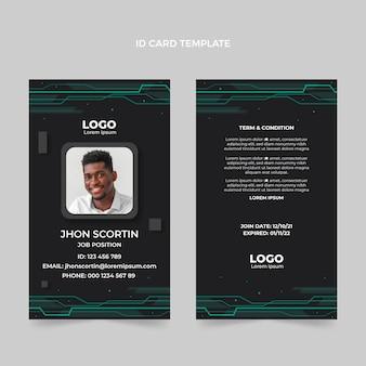 Flat design minimal technology id card