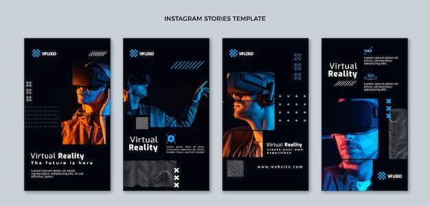Плоский дизайн минималистичные истории instagram