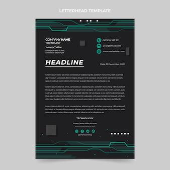 Flat design minimal technology letterhead