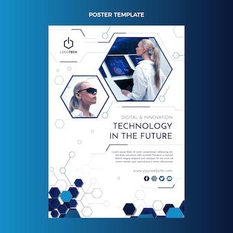 Плоский дизайн минималистичный шаблон плаката технологии