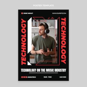 평면 디자인 최소한의 기술 포스터
