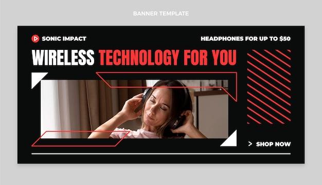 Плоский дизайн минимальная технология продажи баннера