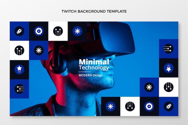 Плоский дизайн минималистичный технологический фон подергивания