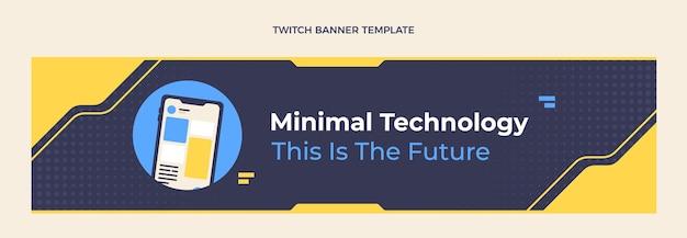 Banner di contrazione con tecnologia minimale dal design piatto