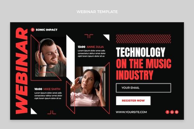 Webinar sulla tecnologia minimale di design piatto